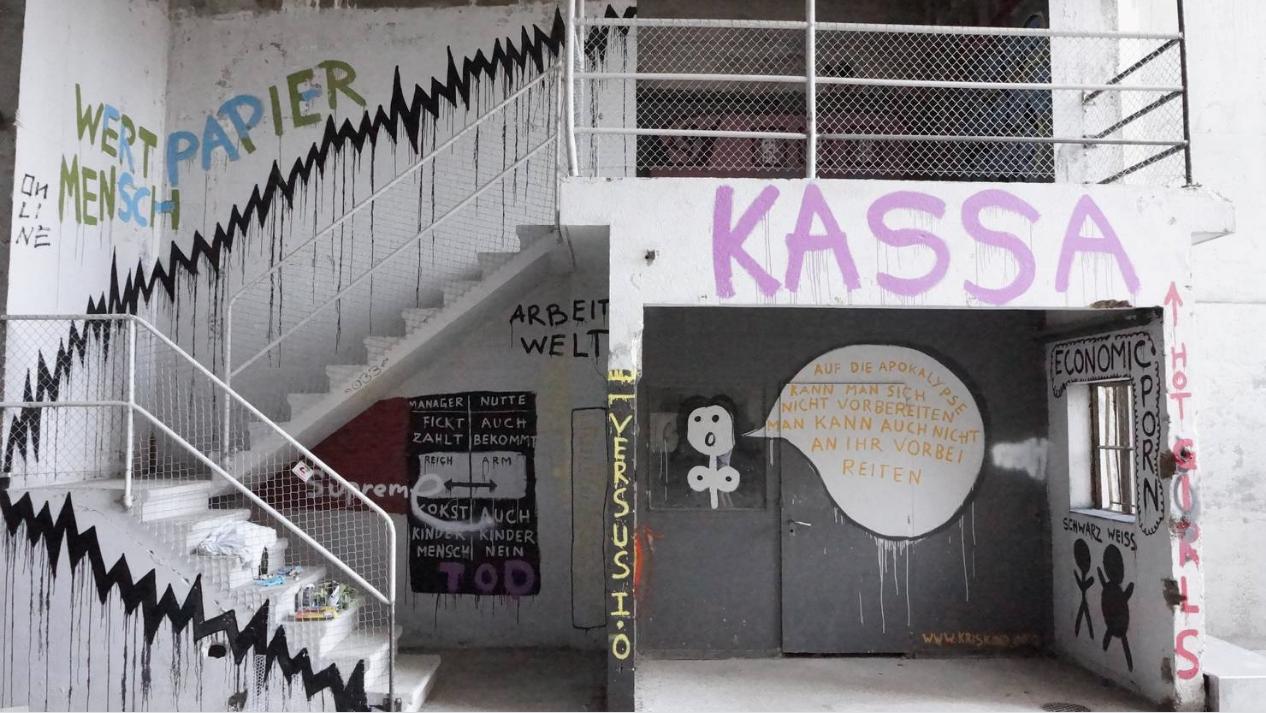 Wertpapier Mensch, Kris Kind, 2018, streetart, mural, graffiti, swiss, Solothurn, Schweiz, Kettenreaktion2018 Unique Painting Artwork, Kris Kind Dr. Kristian Stuhl #illegalernuttentransport #streetart #graffiti #mural #kriskind #kindkris #wertpapiermensch #kettenreaktion