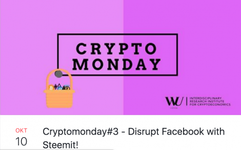 Crypto Monday WU VIENNA 2018 #kriskind #kindkris #cryptocurrency #steemit #blockchain